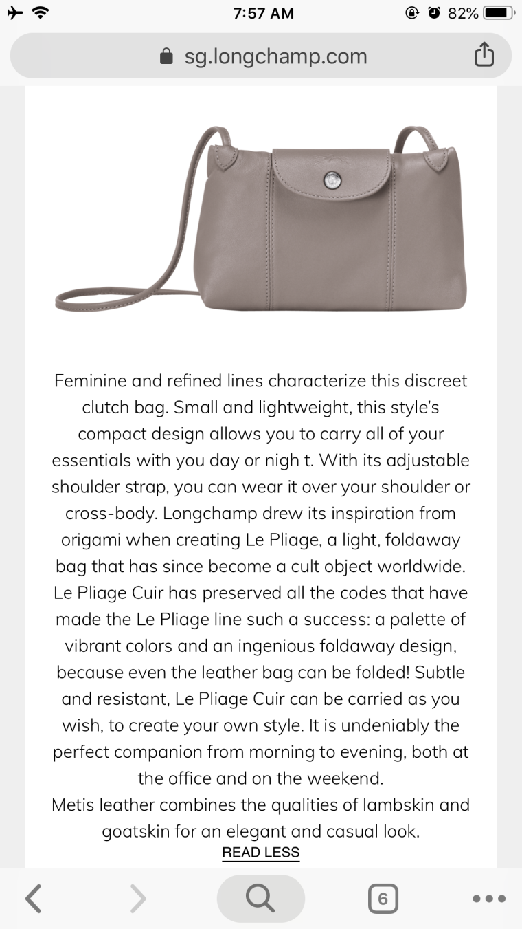 f0899b184a3f Review  Longchamp Le Pilage Cuir Crossbody in Cherry Colour ...